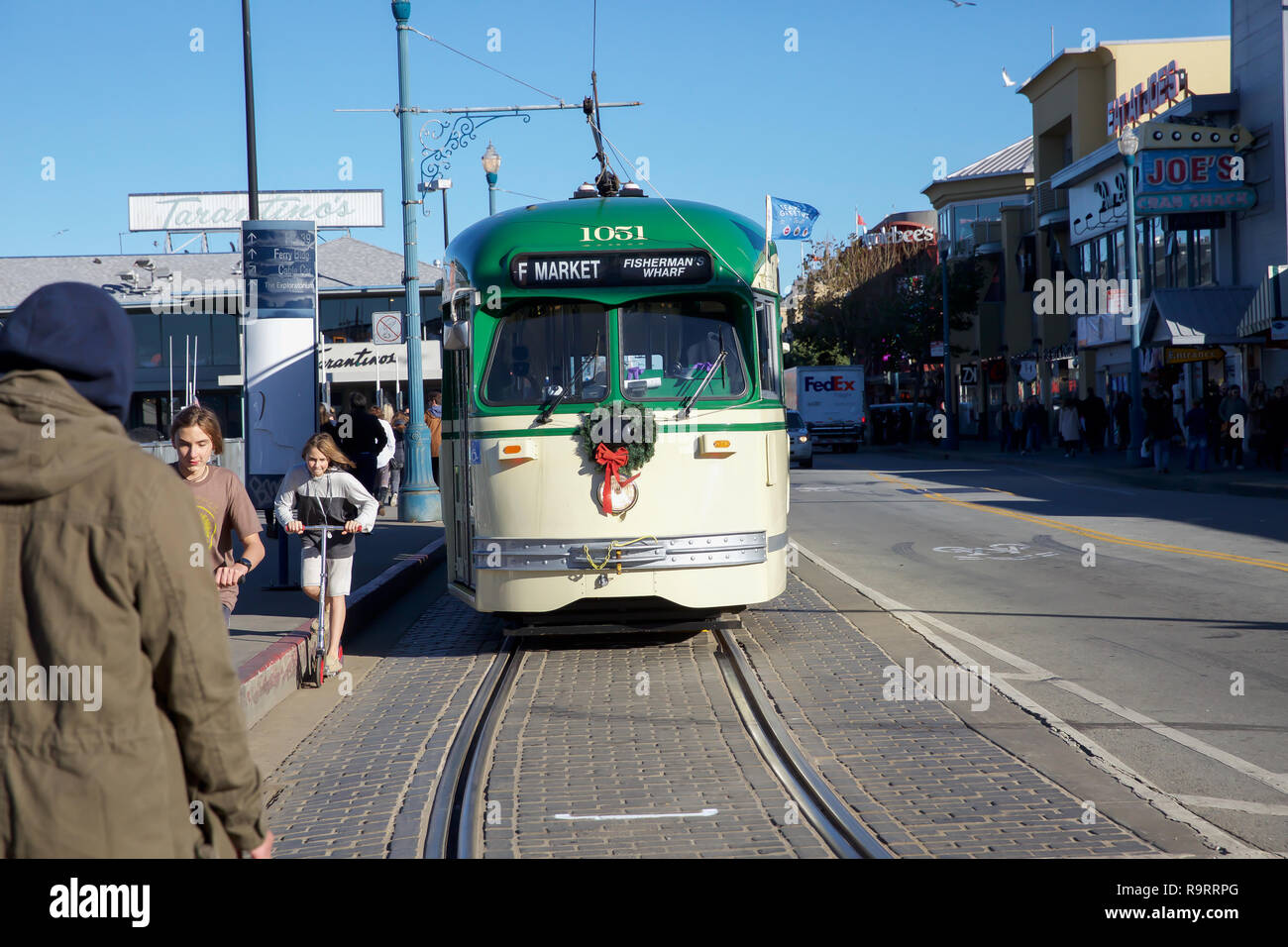 San Francisco, USA. 27th Dec, 2018. Tram in San Francisco. Credit: Keith Larby/Alamy Live News - Stock Image