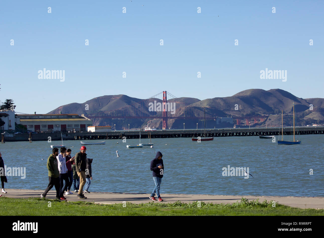San Francisco, USA. 27th Dec, 2018. Blue Skies over San Francisco. Credit: Keith Larby/Alamy Live News - Stock Image