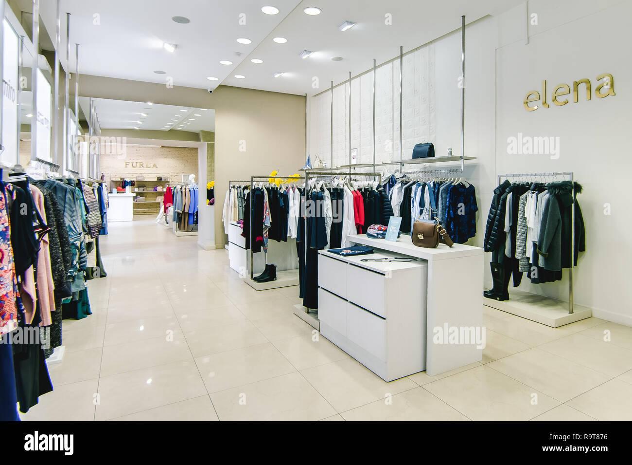 270e3af763c5 Russia, Novosibirsk - April 25, 2018: interior of women's clothing and  accessories store boutique EMPORIO