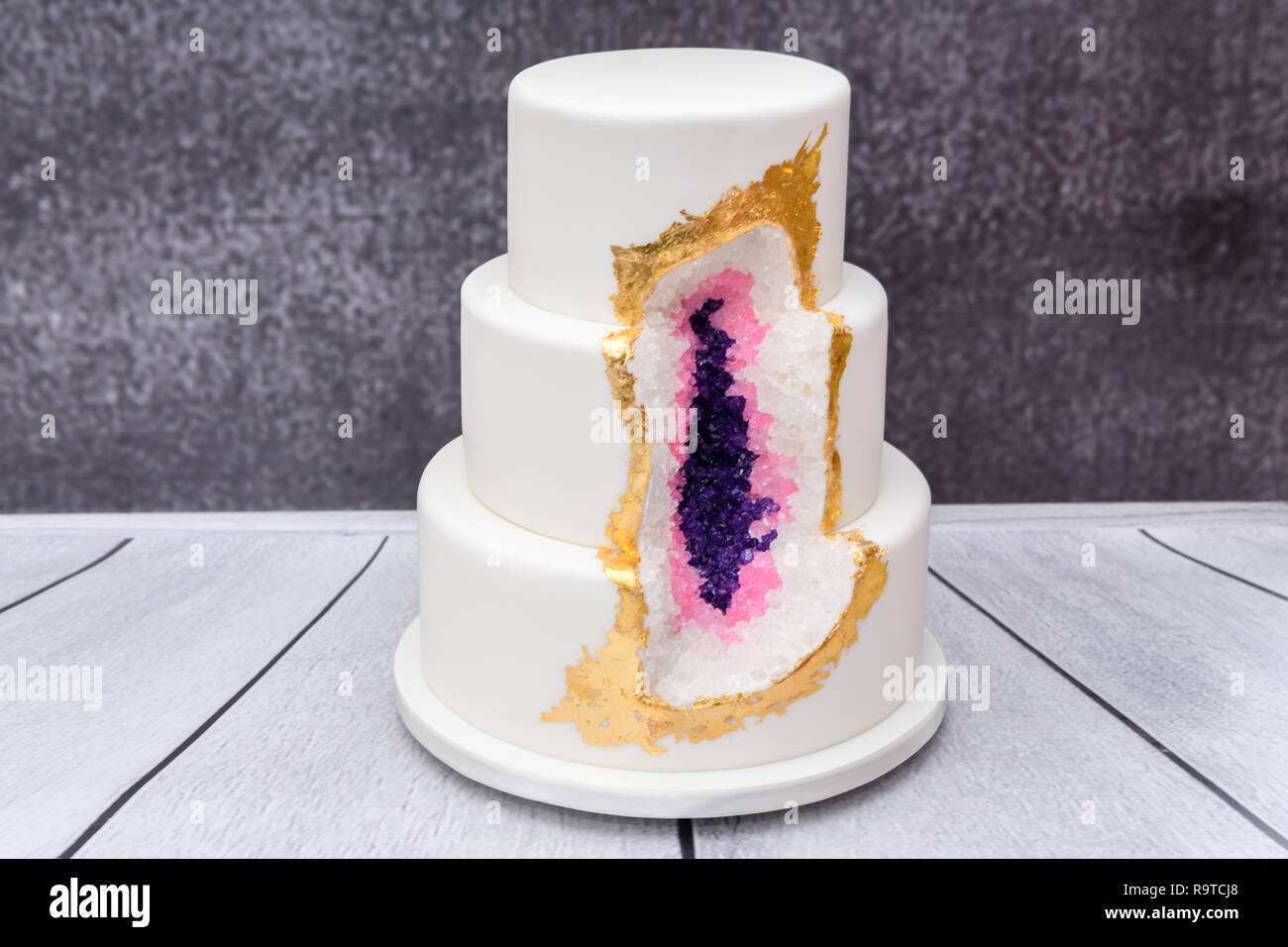 Homemade Geode Wedding Cake
