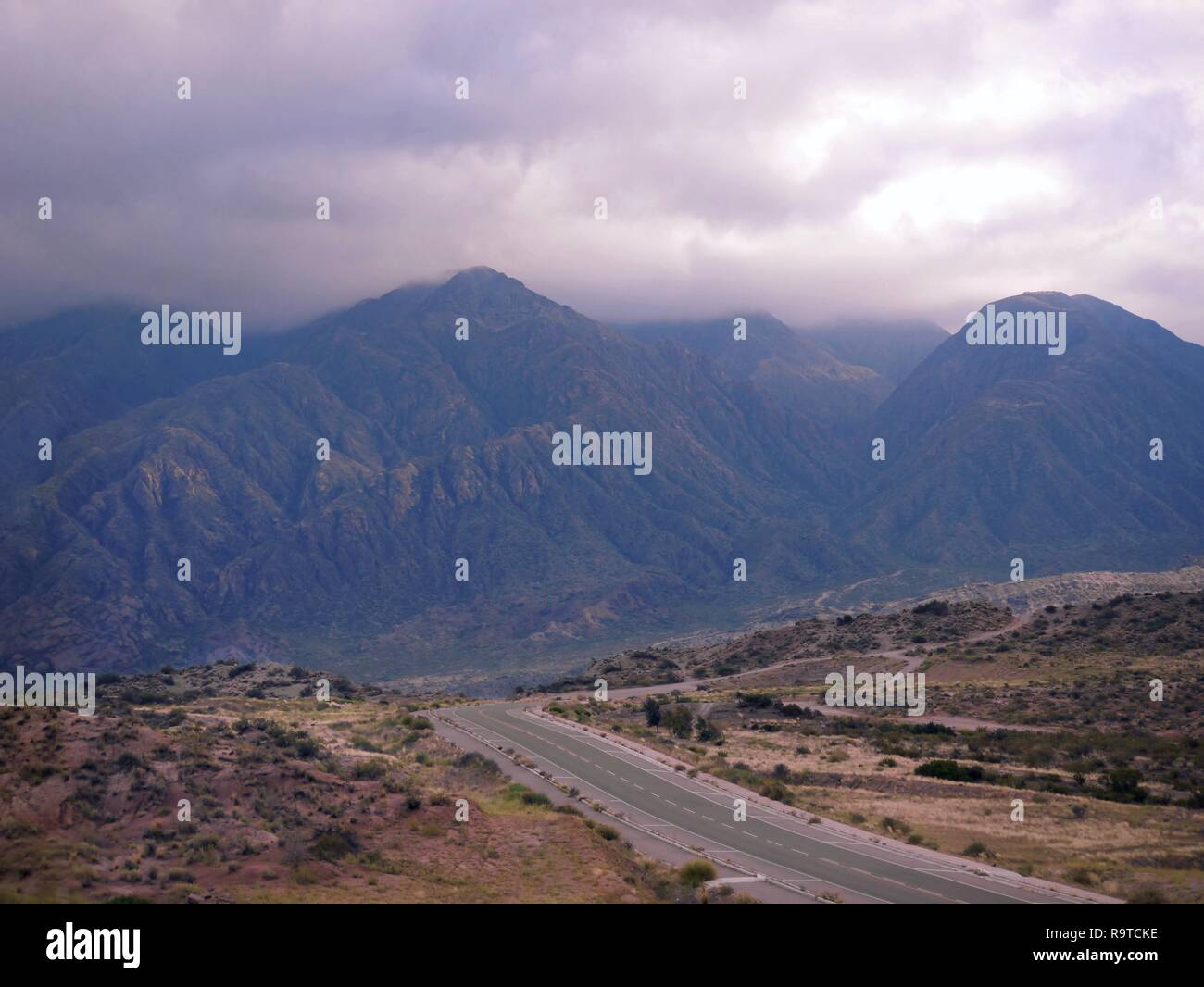 Andes Mountains, Mendoza, Argentina, South America - Stock Image