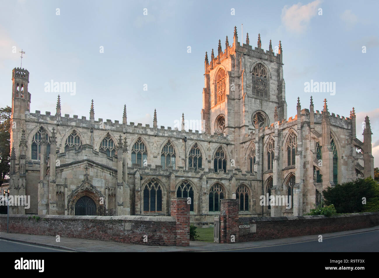 Beverley Minster in Beverley, East Riding of Yorkshire, a gothic parish Church of England. It is one of the largest parish churches in the UK - Stock Image