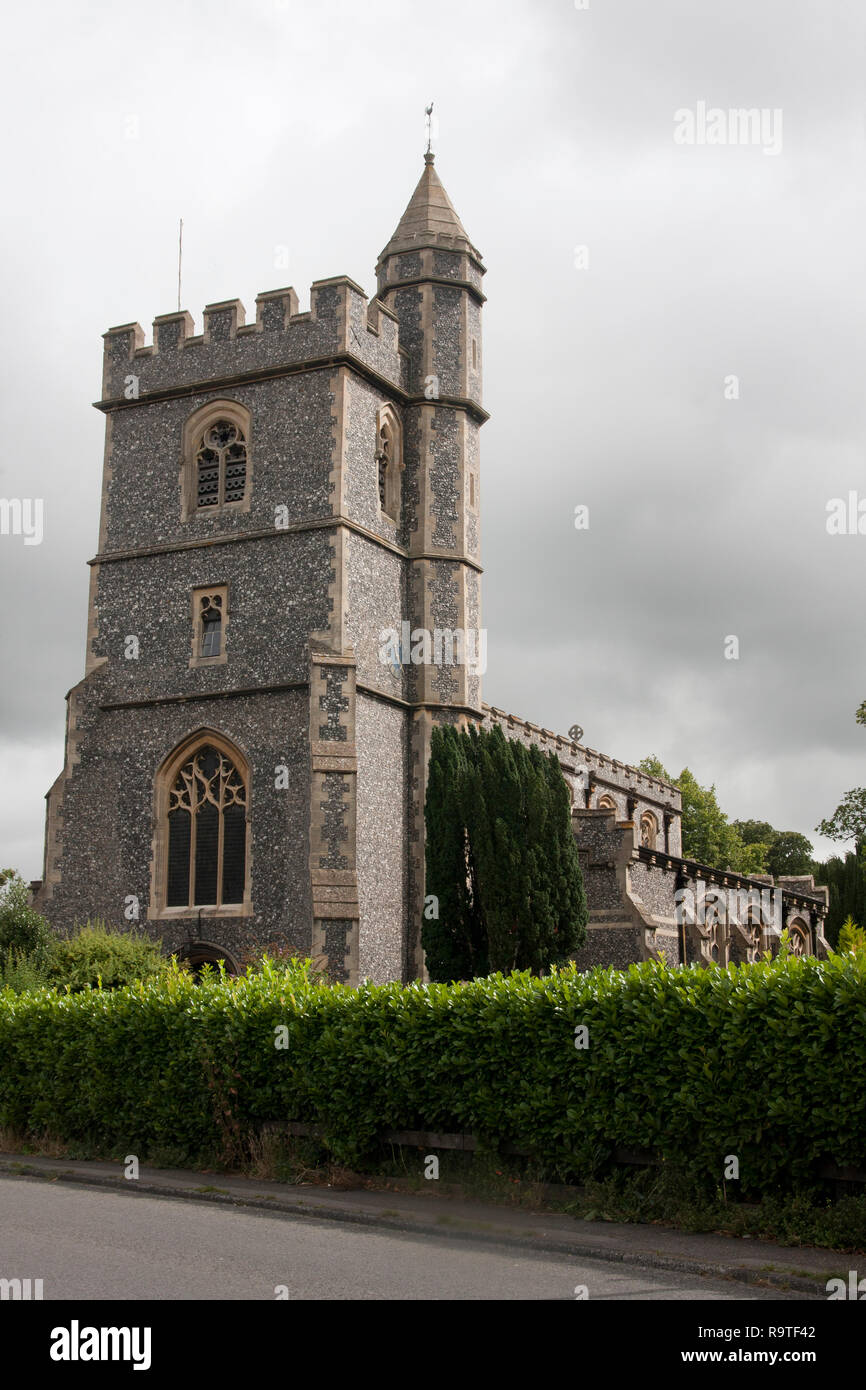 Parish church of St Pauls with St Mary's, Wooburn Green, nr High Wycombe, Buckinghamshire - Stock Image
