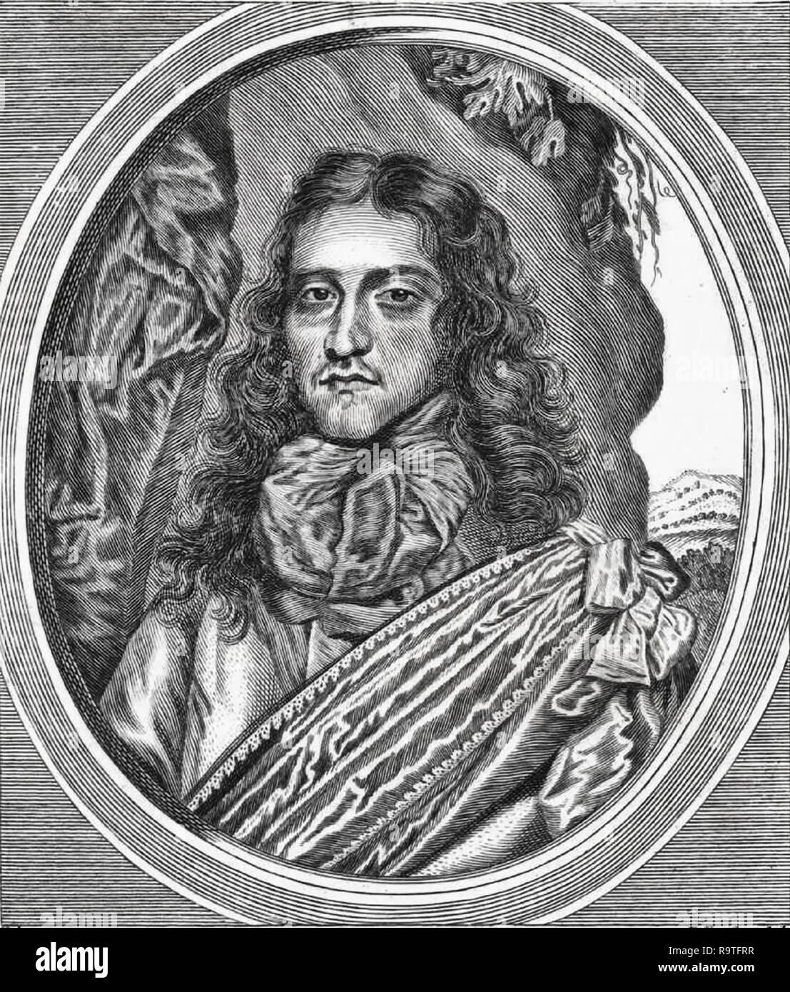 Prince Rupert of the Rhine (1619-1682), Bohemian soldier and inventor. - Stock Image
