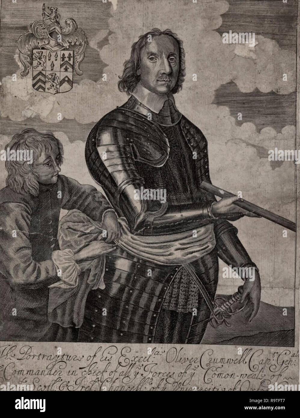 Portrait of Oliver Cromwell, circa 1650 Stock Photo