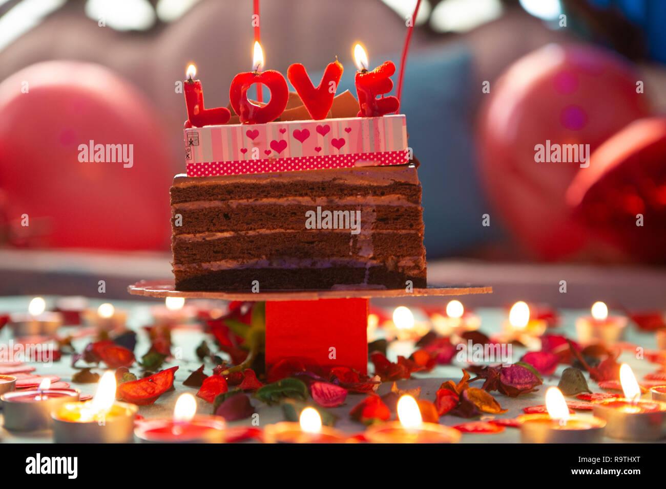 Romantic wedding anniversay  Decoration Ideas Stock Photo