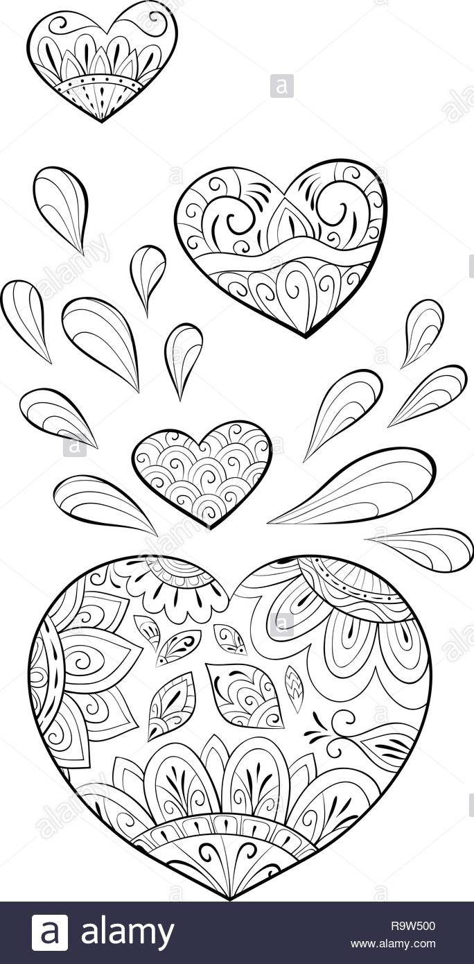 A Group Of Hearts For Valentine S Day Image For Relaxing Activity A