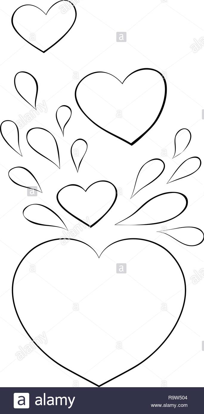 A group of hearts for Valentine\'s Day image for relaxing ...