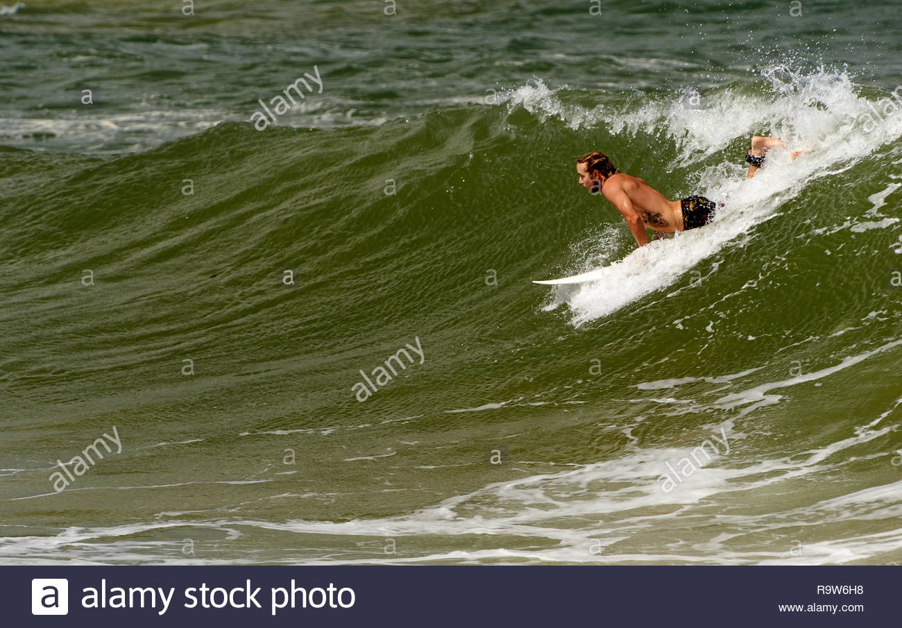 Surfing Moderate Swell After A Major Rain Event Which Has