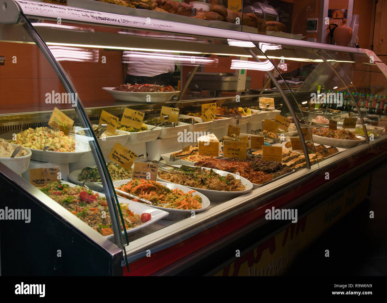 Food Counter, Genoa, Italy. Stock Photo