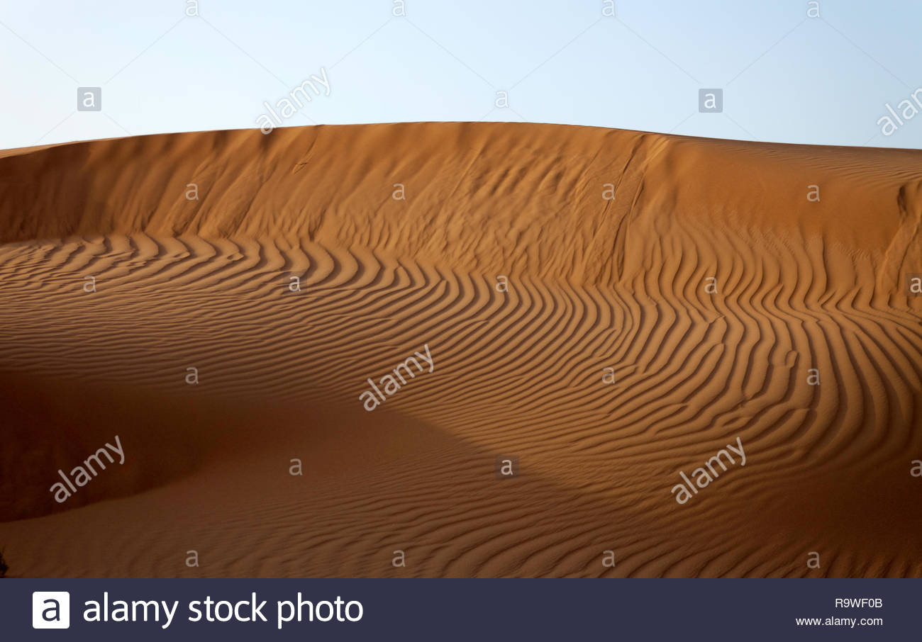 Sand dune in Western Sahara - Stock Image