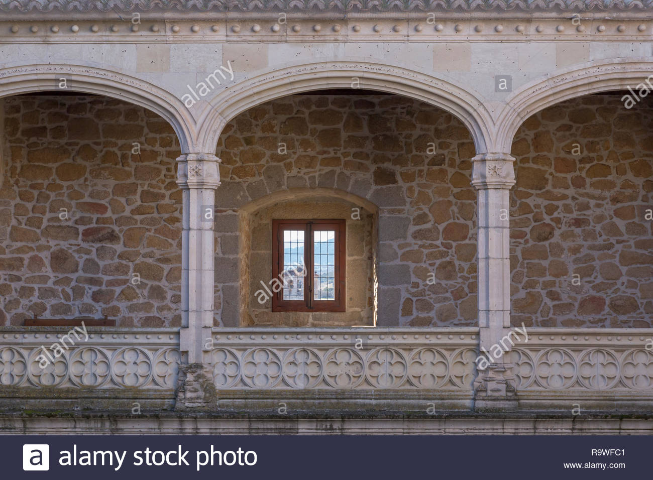 In Manzanares el Real, Spain Stock Photo