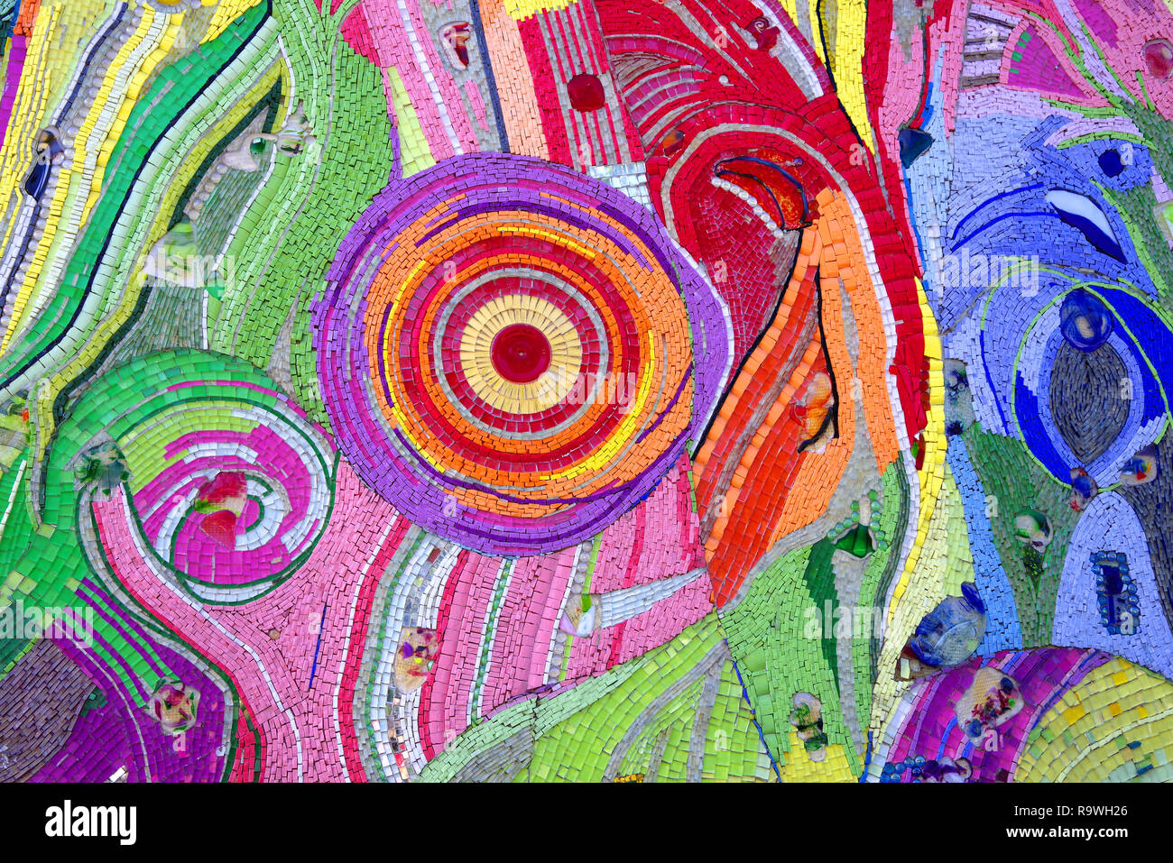 Colorful glass fragments - Stock Image