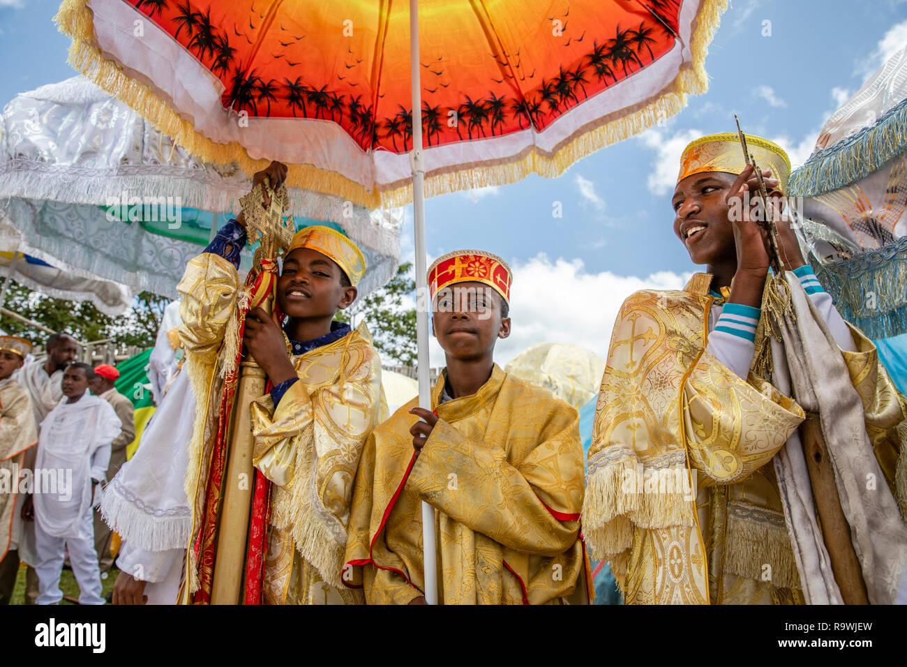 Meskel Festival of Arba Minch, Ethiopia Stock Photo