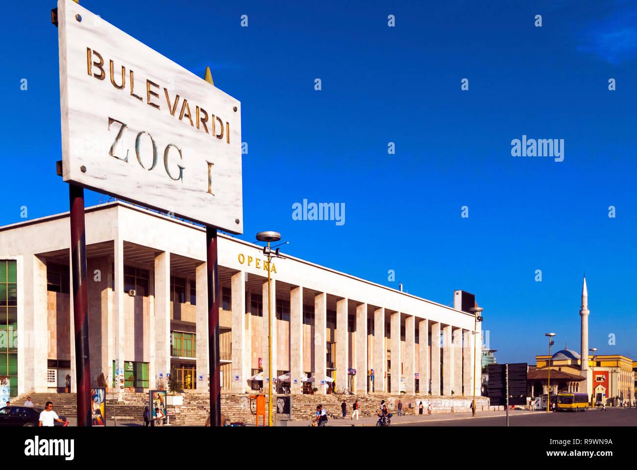 Skanderberg Square, Tirana, Albania - Stock Image
