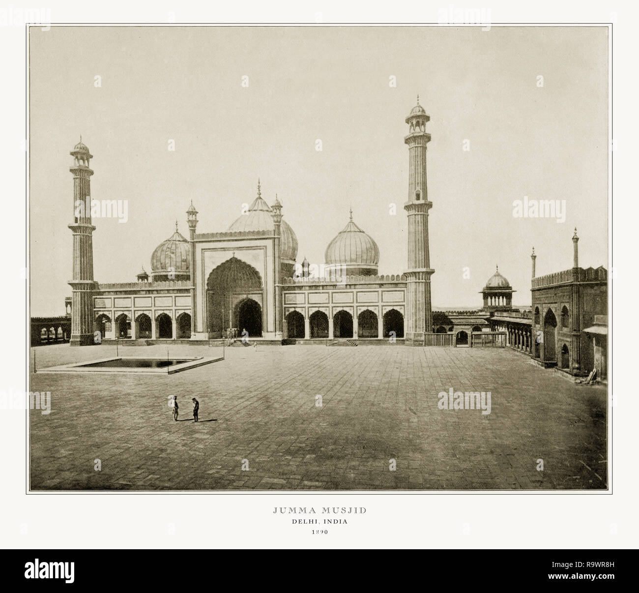 Jumma Musjid, Delhi, India, Antique India Photograph, 1893 Stock Photo