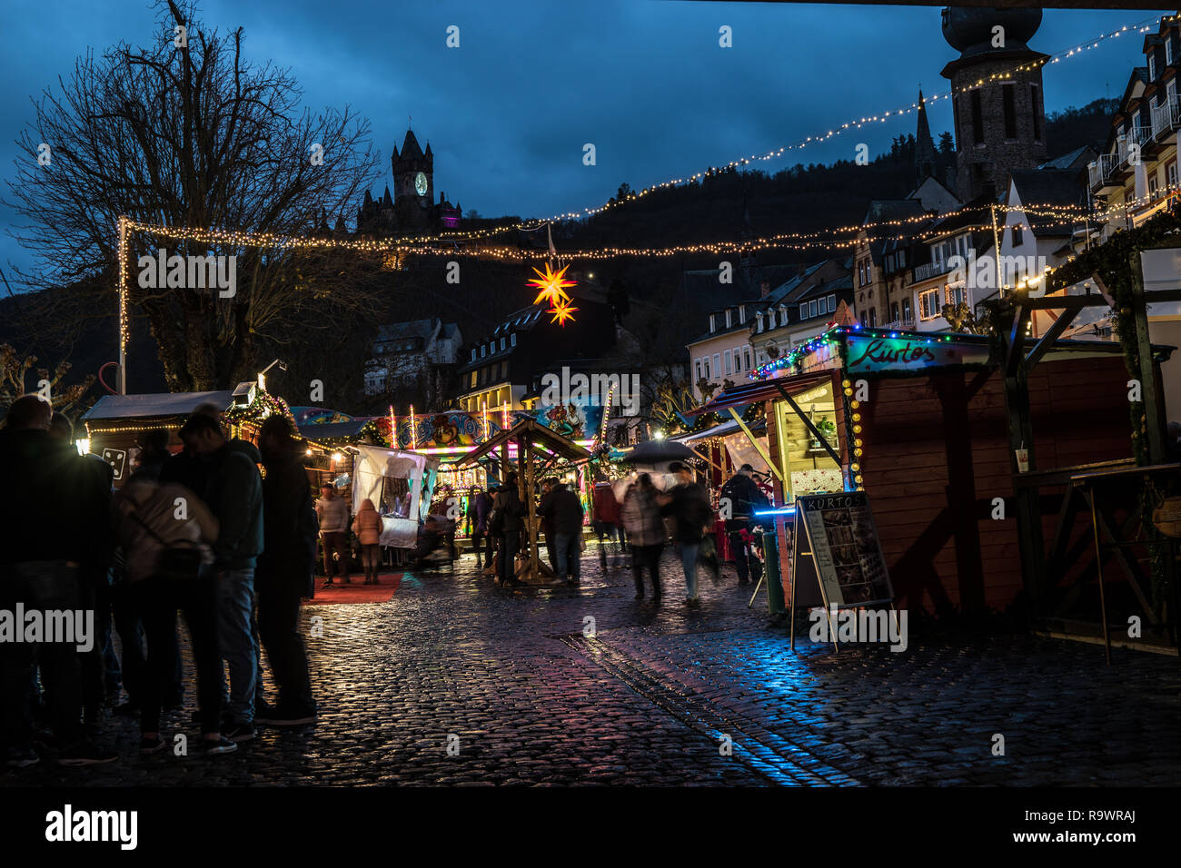 Cochem Weihnachtsmarkt.Christmas Market At Cochem Germany Stock Photo 229833818 Alamy