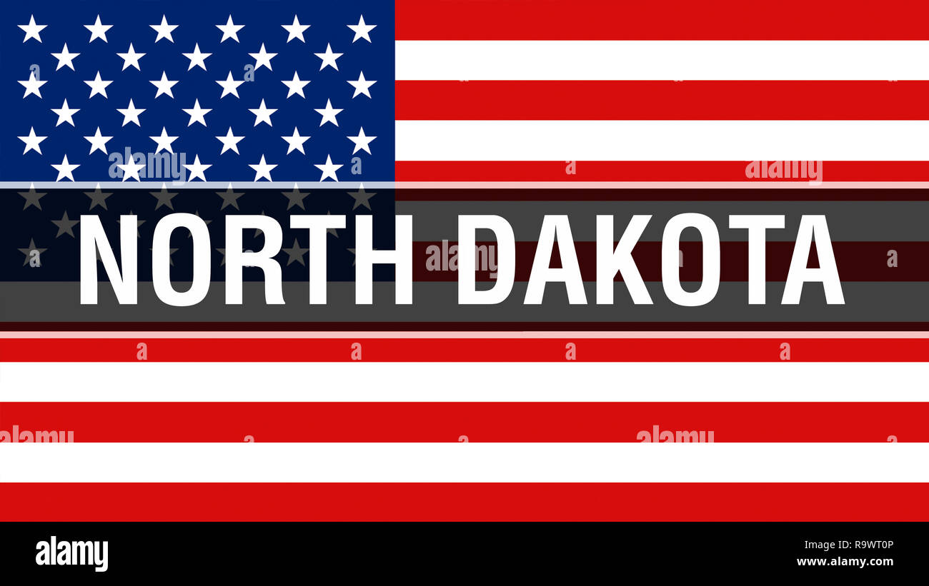 24d7b26f1f30 North Dakota state on a USA flag background