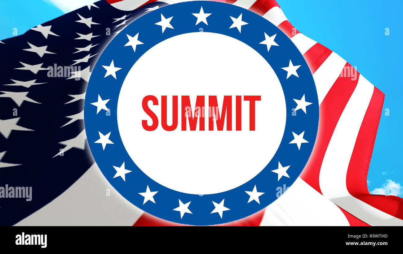 summit election on a USA background, 3D rendering  United