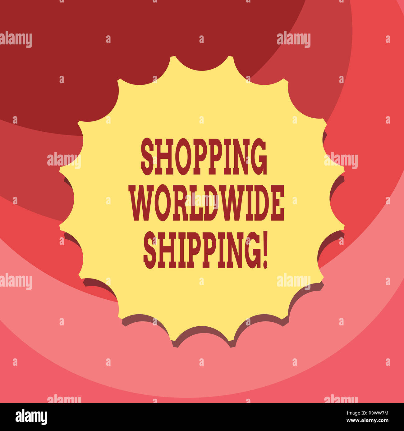 Text sign showing Shopping Worldwide Shipping  Conceptual