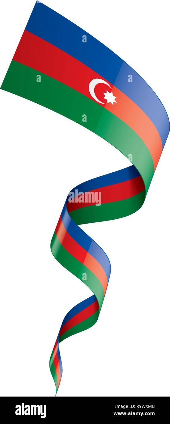 Azerbaijan Flag Vector Illustration On A White Background Stock Vector Image Art Alamy