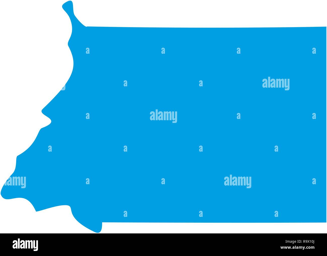 map of Equatorial Guinea. Silhouette of Equatorial Guinea map vector ...