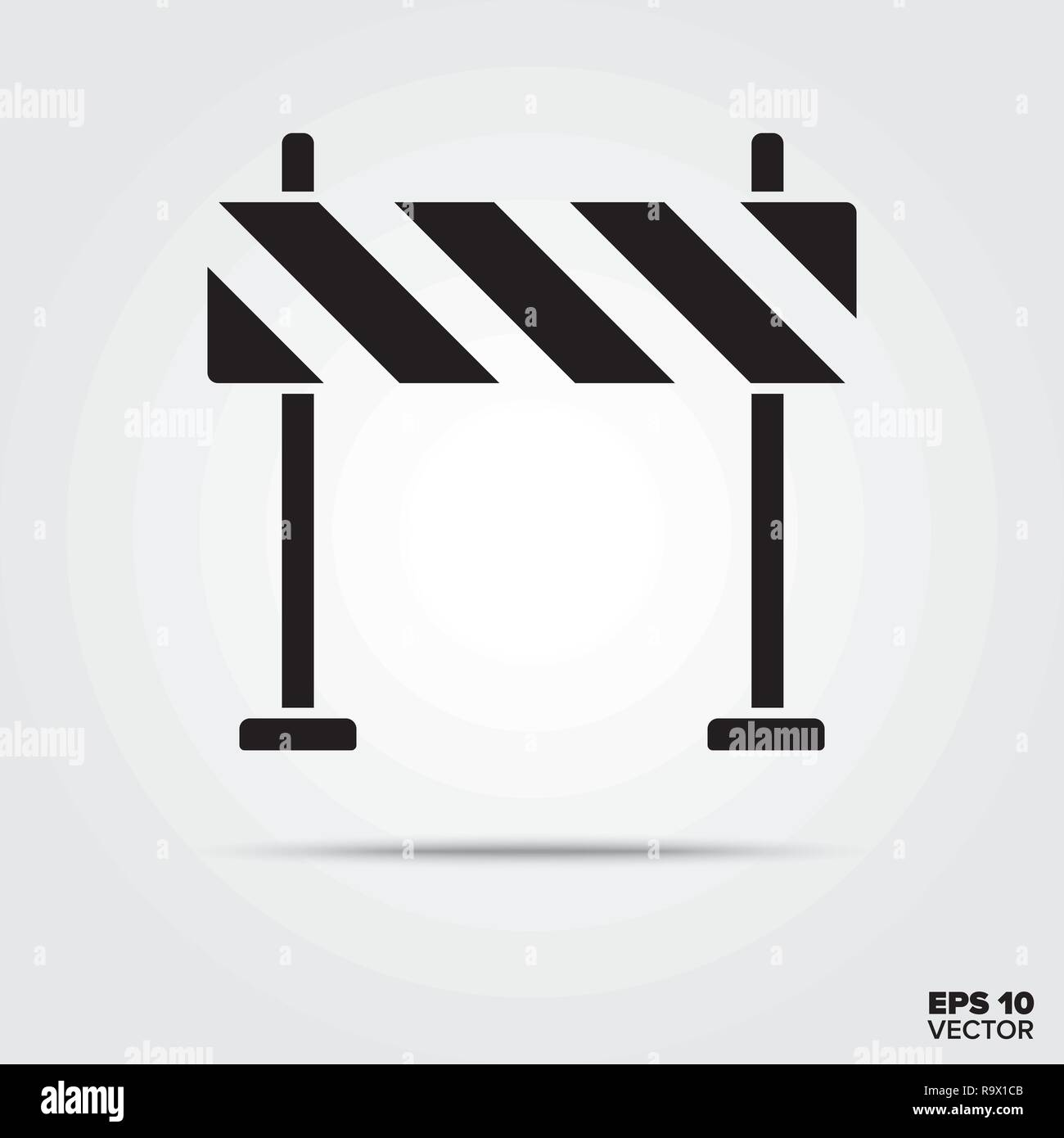 road barrier glyph icon vector - Stock Image