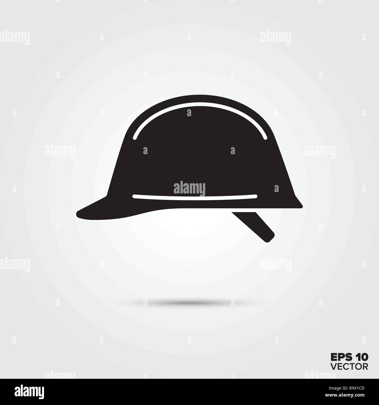 hard hat glyph icon vector - Stock Image