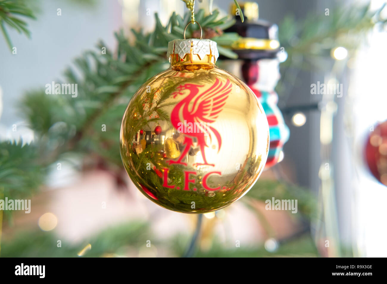 Football  XMAS Tree Baubles Club Selection Soccer Fans Christmas Gift