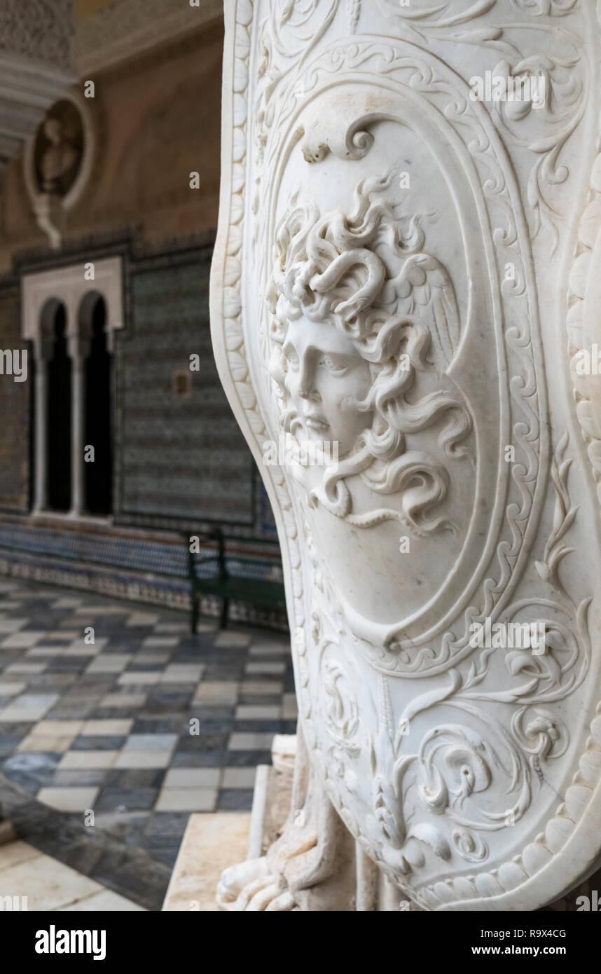 Casa de Pilatos (Pilate's House), a Mudejar style palace used by the Dukes of Medinaceli, Seville, Spain Stock Photo