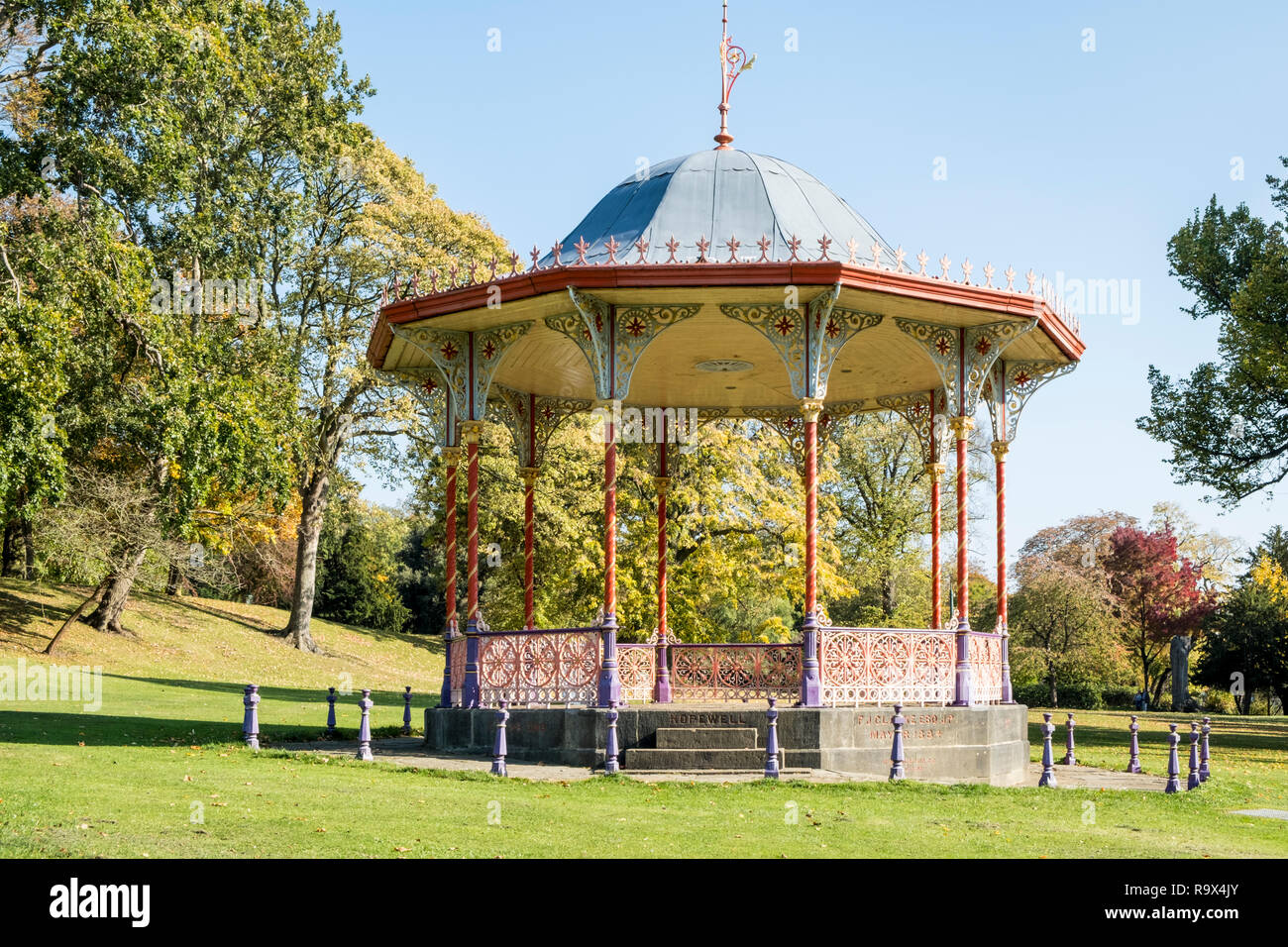 The Bandstand at The Arboretum in Lincoln, England, UK - Stock Image