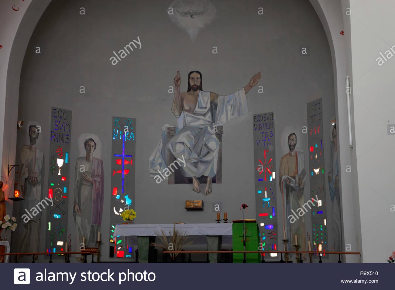 Jesus Christ and Four Evamgelists - Stock Image