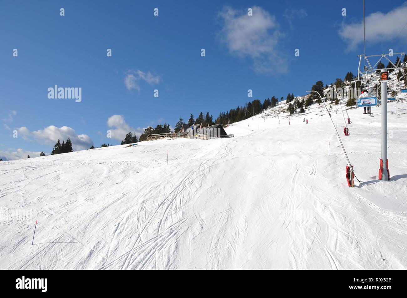 krvavec, slovenia - 8 january 2012: krvavec alpine mountain ski