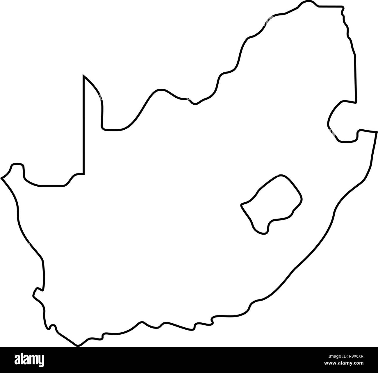 Africa Map Silhouette Vector.Map Of South Africa Outline Silhouette Of South Africa