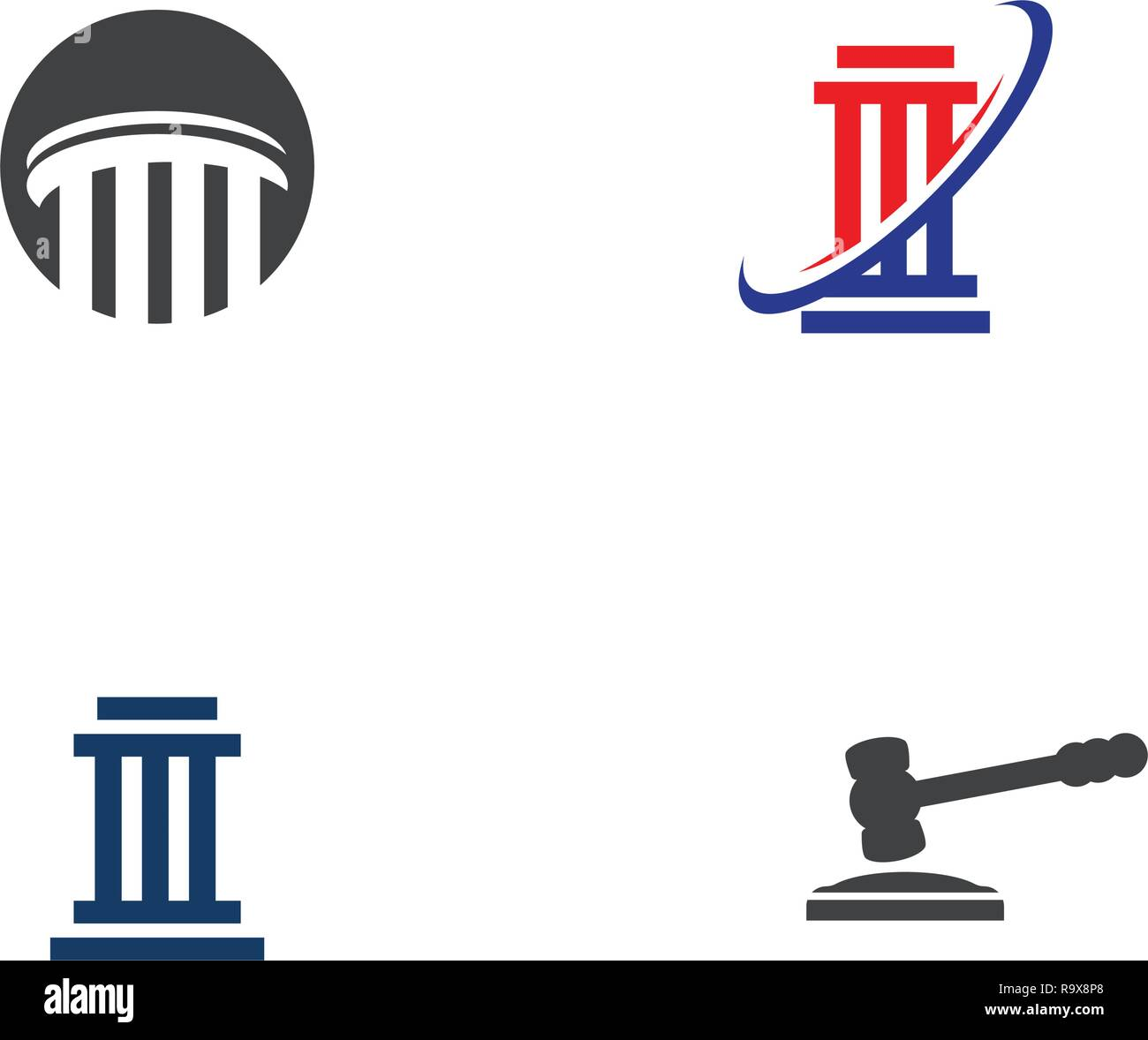 justice law Logo Template vector illsutration design - Stock Vector