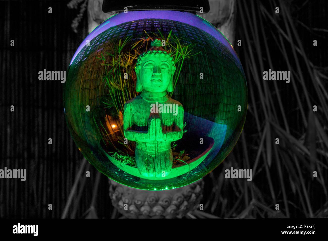 glass ball photography - Stock Image