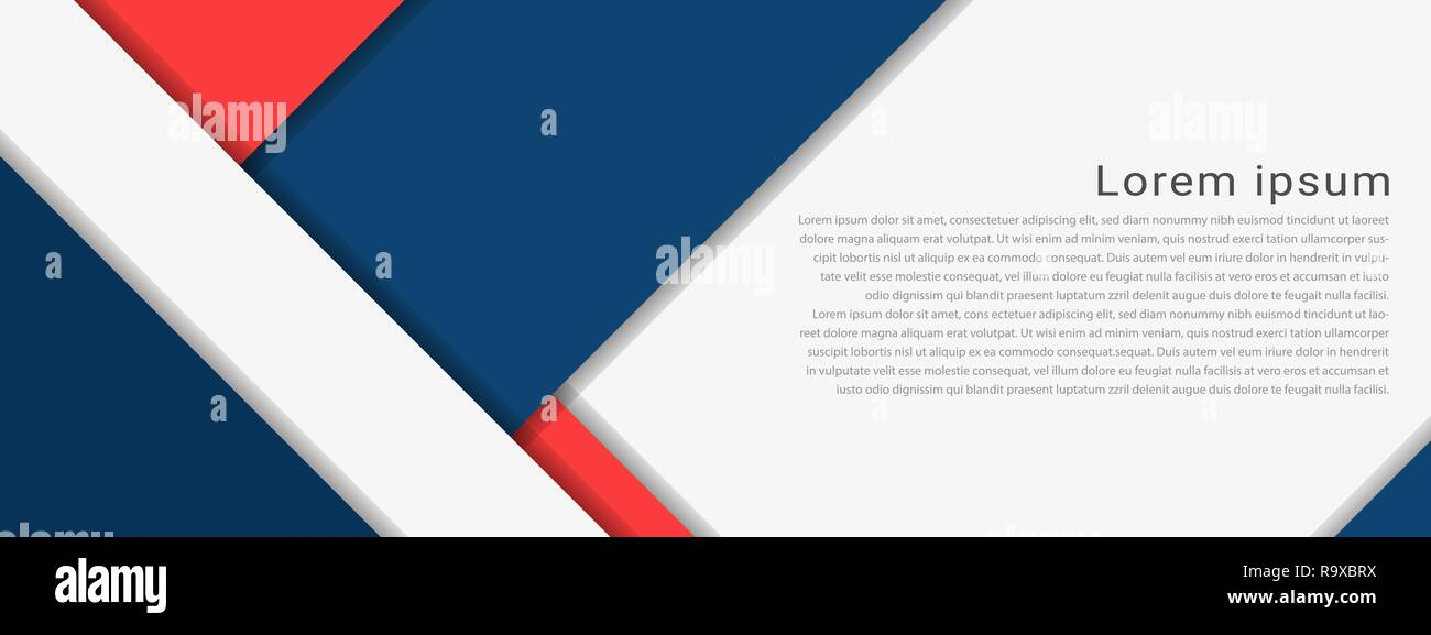 Material Design background with with sample text copy space. Vector illustration. - Stock Image