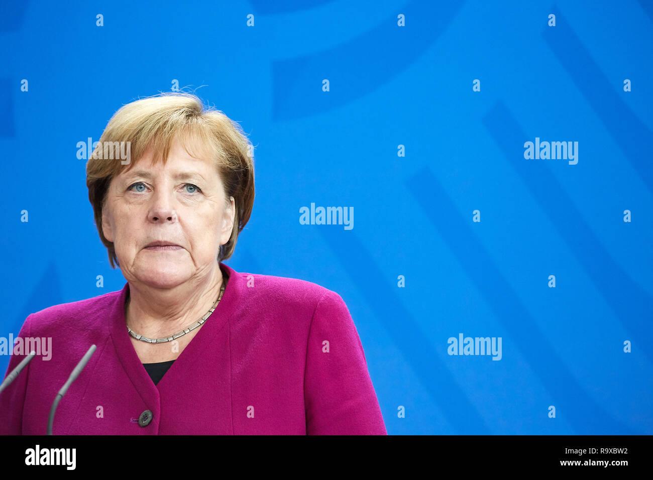 16.10.2018, Berlin, Deutschland - Bundeskanzlerin Angela Merkel. 00R181016D112CARO.JPG [MODEL RELEASE: NO, PROPERTY RELEASE: NO (c) caro images / Thom Stock Photo