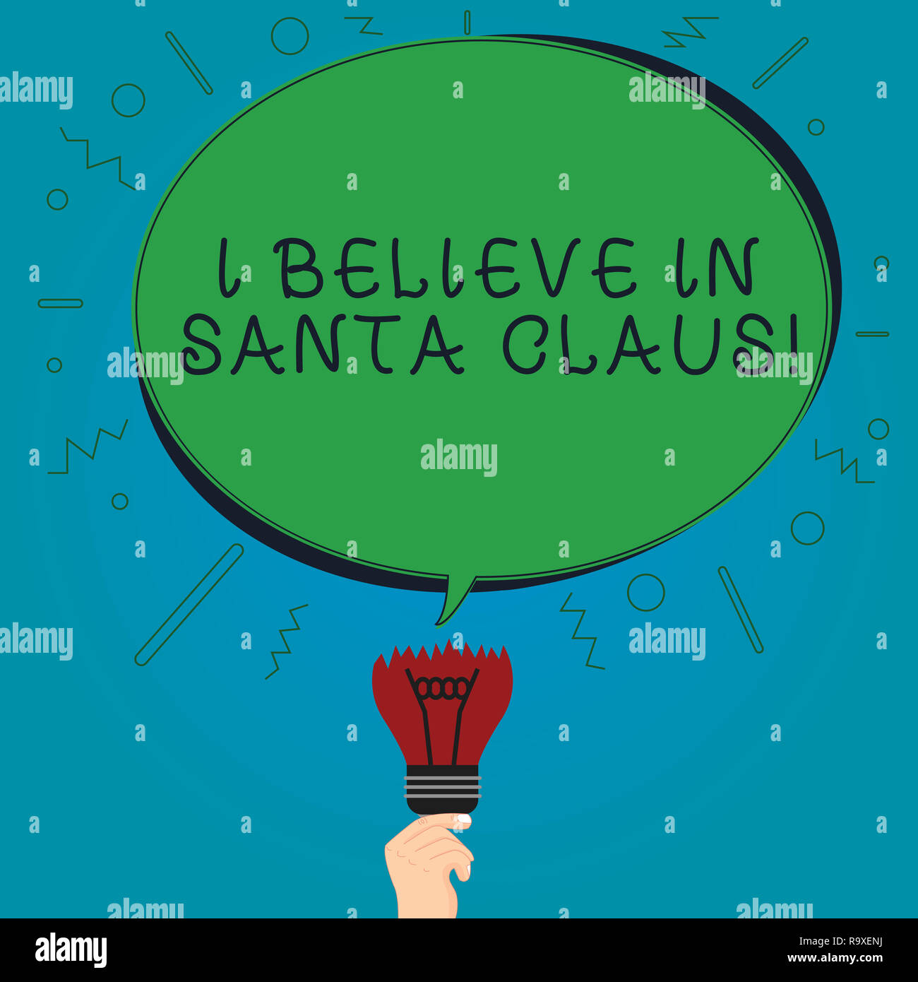 I Believe In Christmas.Text Sign Showing I Believe In Santa Claus Conceptual Photo