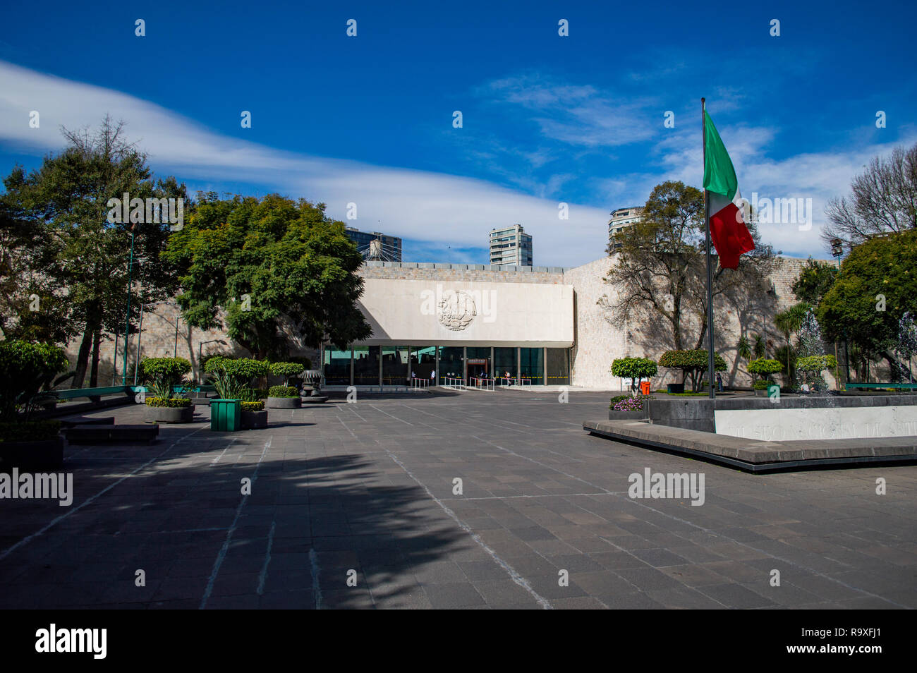 The entrance to the National Museum of Anthropology in Mexico City, Mexico - Stock Image
