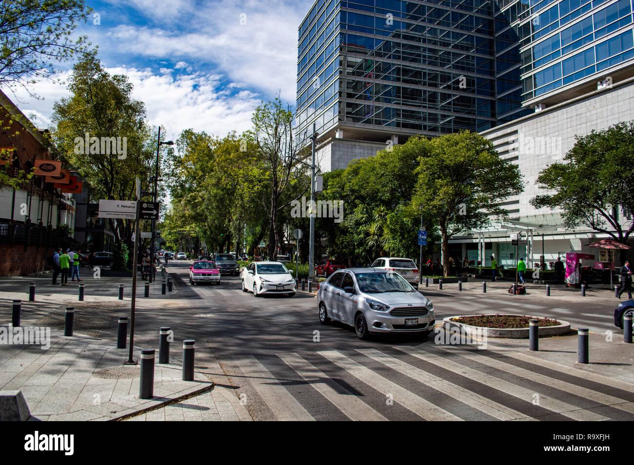 Avenida Presidente Masaryk in Polanco in Mexico City, Mexico - Stock Image