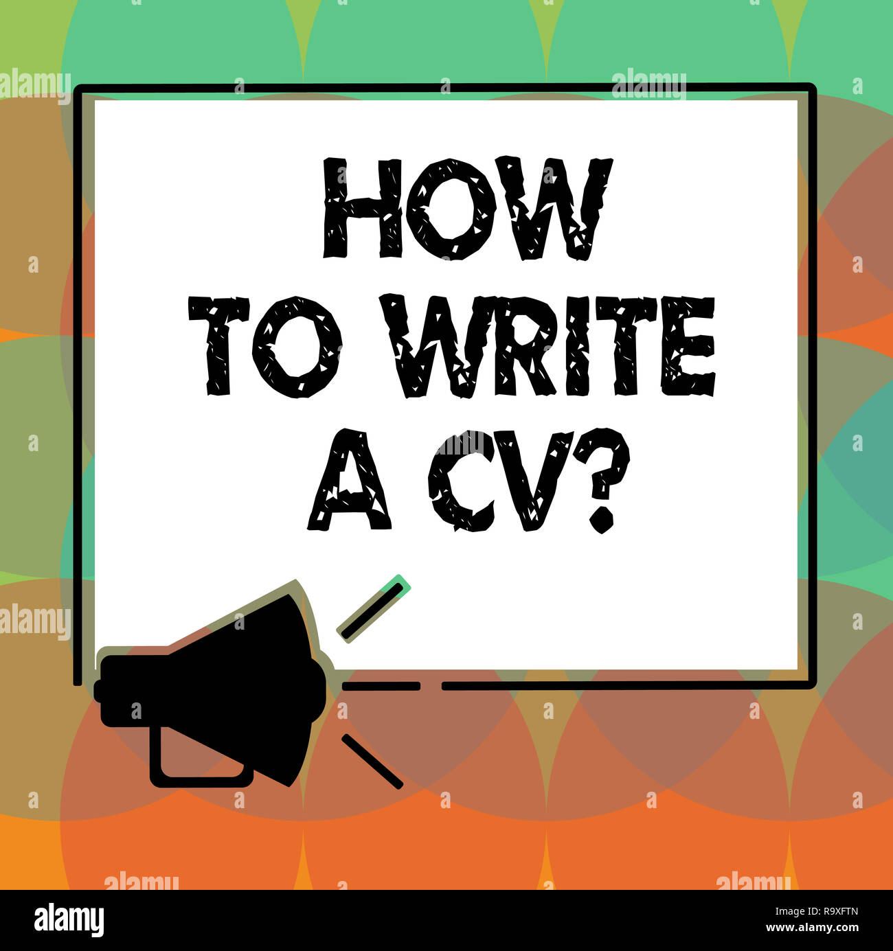 Word Writing Text How To Write A Cv Business Concept For Recommendations Make Good Resume Obtain Job Megaphone Sound Icon Outlines Blank Sq