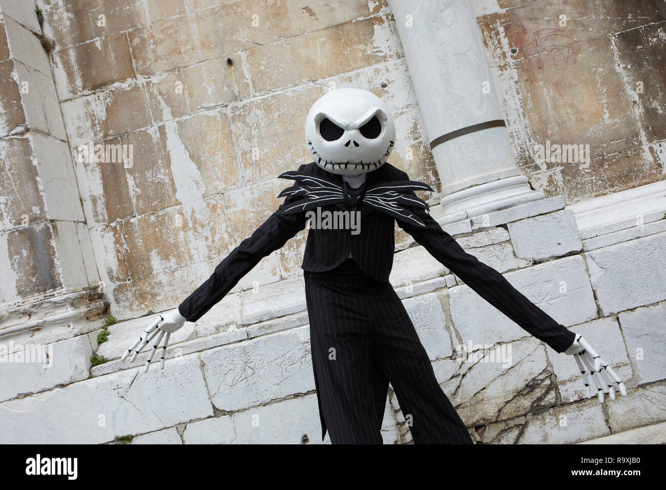 Jack Skellington cosplay at Lucca Comics 2018, Italy - Stock Image