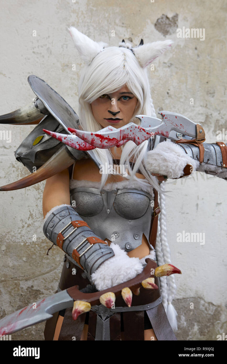 Cosplayer at Lucca Comics 2018, Italy - Stock Image