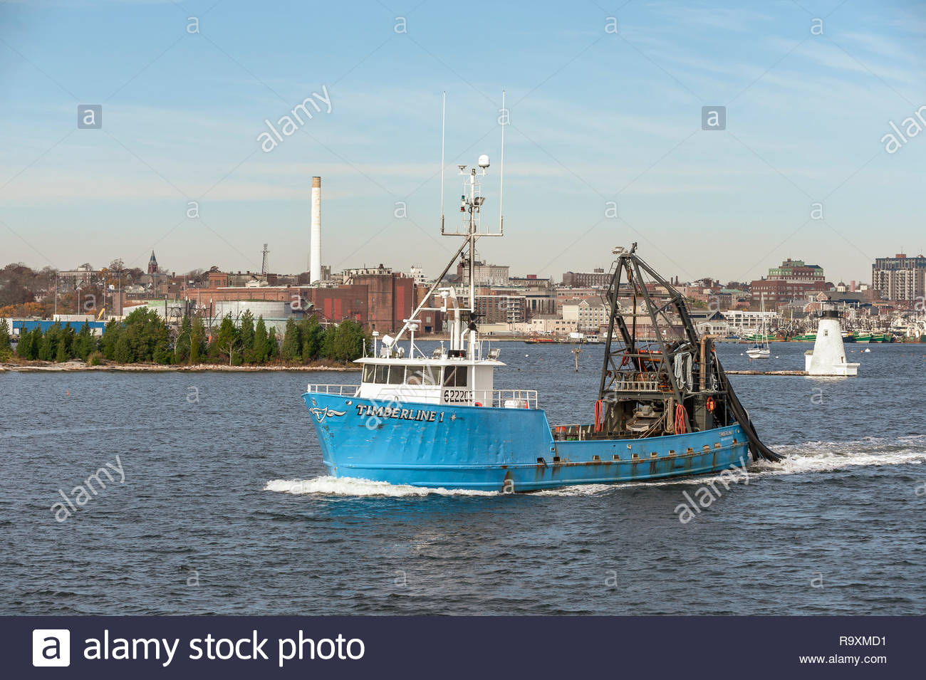New Bedford, Massachusetts, USA - November 8, 2018: Clammer