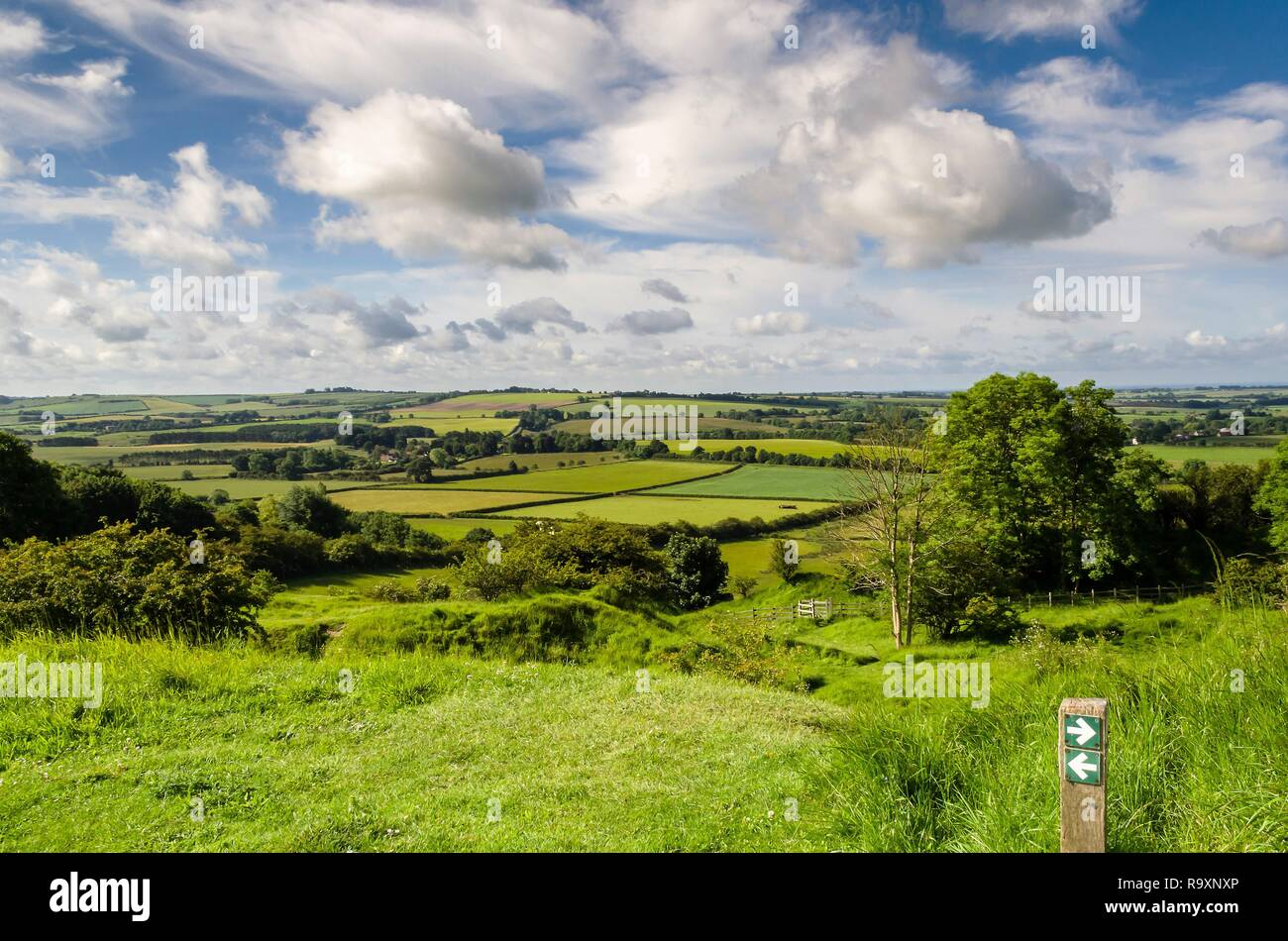 View from Red Hill, Lincolnshire wolds Stock Photo