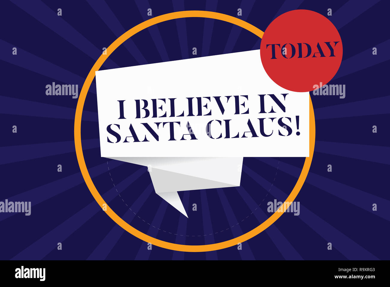 I Believe In Christmas.Handwriting Text I Believe In Santa Claus Concept Meaning