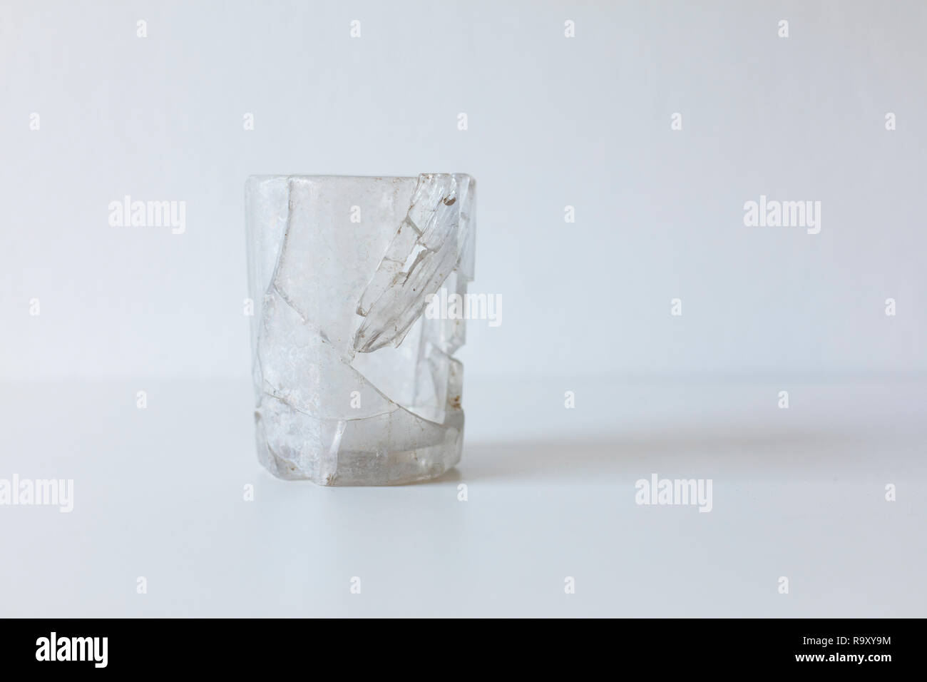 An old broken glass - Stock Image