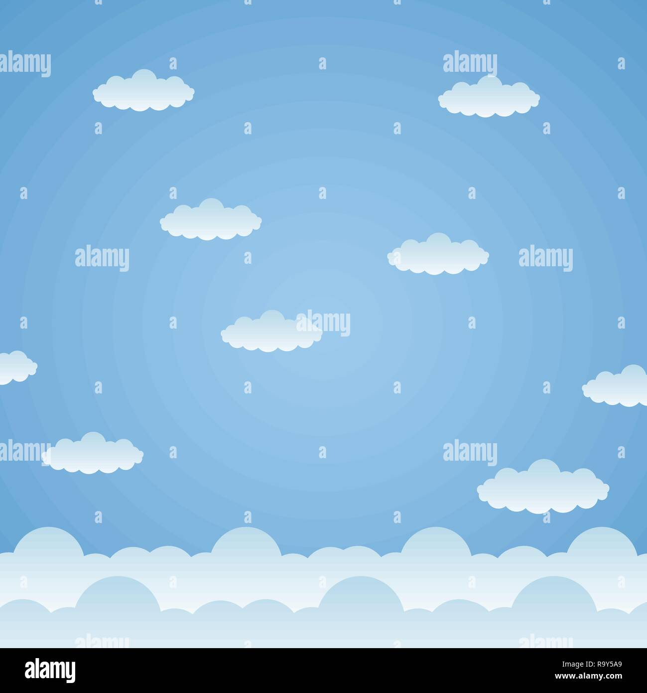 blue clouds sky background - Stock Image