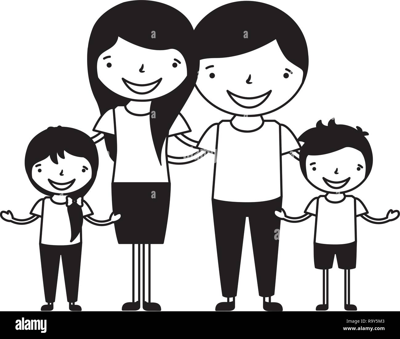 Family Cartoon High Resolution Stock Photography And Images Alamy